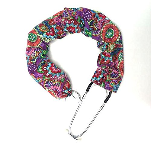 - Stethoscope Covers Handmade Variety Patterns 100% Cotton (Bold Multi Color Flowers)