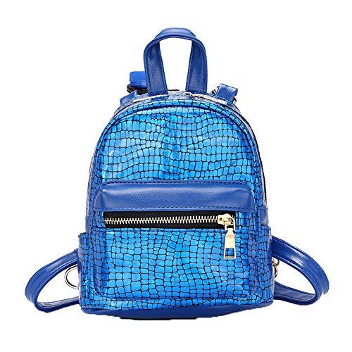 fourre Zippers GMBAB212822 Tout PU bandoulière Cuir Sacs à Sacs Femme Bleu AgooLar Rouge Hwq1SS