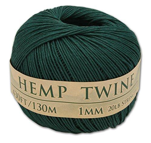 430 Feet of 1mm 100% Hemp Twine Bead Cord in Hunter (Green Hemp Cord)