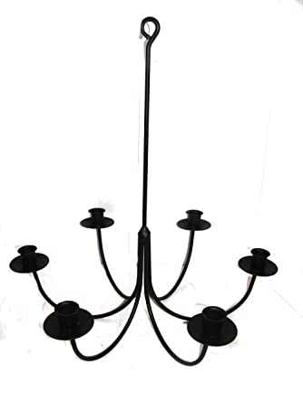 Amazon wrought iron 6 arm candle chandelier home improvement wrought iron 6 arm candle chandelier aloadofball Gallery