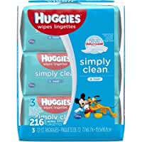 HUGGIES Simply Clean Fresh Baby Wipes, 72 sheets, (Pack of 3)