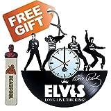 Elvis Presley Handmade Vinyl Record Wall Clock Fun gift Vintage Unique Home d…