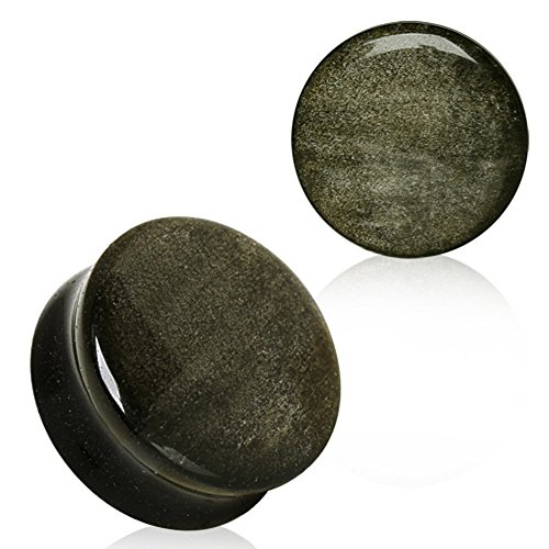 Natural Golden Obsidian Stone WildKlass Saddle Plug (1/2