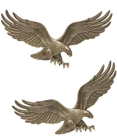 Whitehall Wall Eagles, Antique Brass, 29''W, Pack of 2 by BestNest