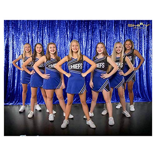 8 X 8, Ready to Dispatch,Sequin Backdrops, Sequin Photo Booth Backdrop, Party Backdrops,Wedding Backdrops, Sparkling Photography Prop (8ftx8ft, Royal Blue)