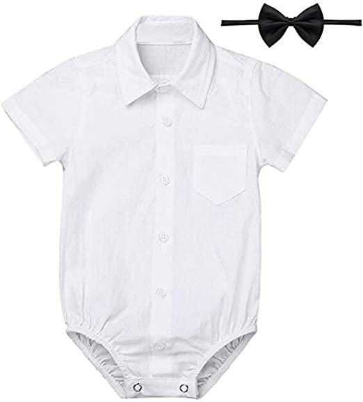Baby Boys/' Formal Shirts Gentleman Romper Bodysuit Wedding Party Outfits 3-24M