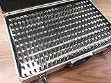 """Pin Gage Set M2(-) 0.251-0.500"""", Minus Accuracy in Metal suitecase #707B-755MC"""