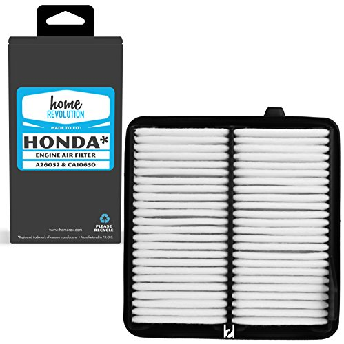 Home Revolution Engine Air Filter, Fits 2009-2014 Honda Fit Models and Parts A26052, CA10650, and Honda 17220-RB0-000