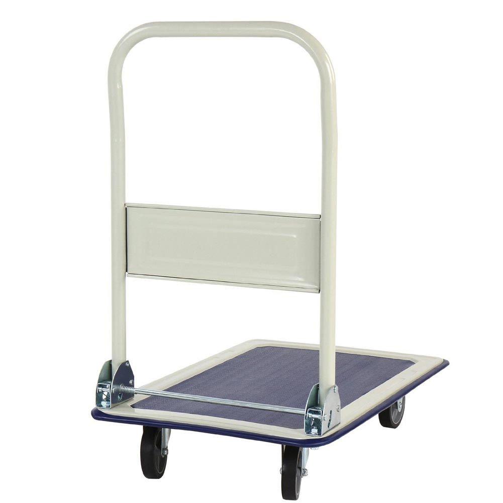 Bakaji - Carro portaequipajes - Carro porta-todo, ideal para transporte con mango plegable, carga máxima de la plataforma 150 kg, 4 ruedas: Amazon.es: ...