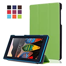 Back Cover Lenovo Tab3 7inch Case Tablet,Lenovo Tab3 Essential Case Leather,Leather Stand Cover flip case Cover for Lenovo Tab 3 7 inch Tablet Case-Green