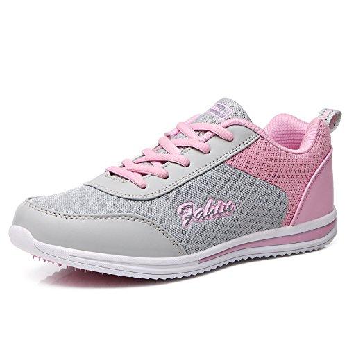 da scarpe traspirante scarpe per Donna sneakers corsa sportive Scarpe le sport Rosa Luce antiscivolo donne Ladies Outdoor Comfort Mesh 5Ewn48Bq