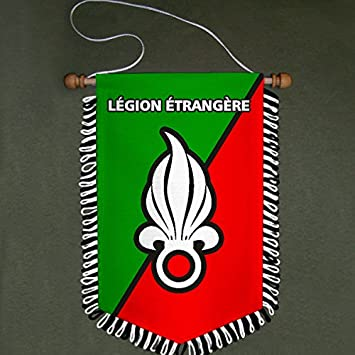 Copytec Légion étangère Französische Fremdenlegion Wappen Abzeichen Wimpel #4862