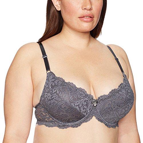 Smart & Sexy Women's Signature Lace Push-up Bra, 40C, Anthracite ()