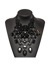 Holylove Black Statement Necklace for Women, Costume Necklace for WomenNovelty Fashion Jewelry 1pcwith Gift Box