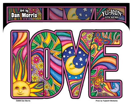 Art Sticker Bumper - Dan Morris - Love - Sticker / Decal