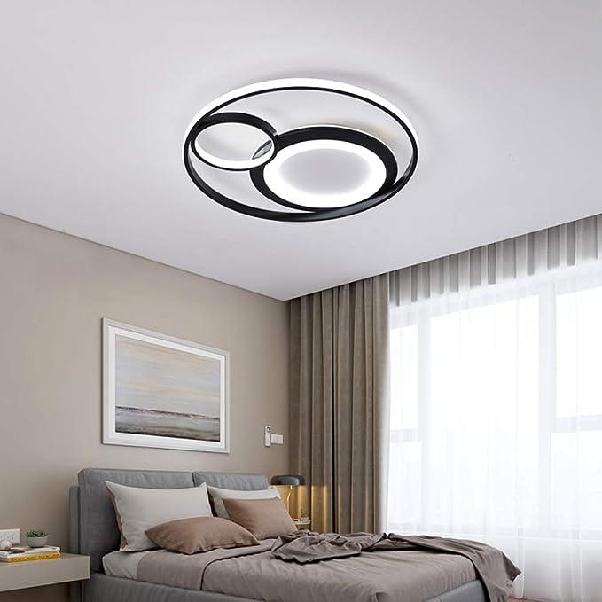 WSYYWD Sala de estar Dormitorio Modern Led Luz de techo Atenuación ...