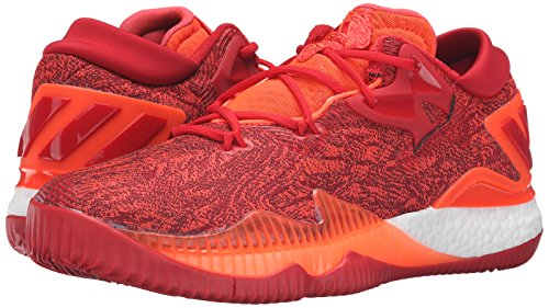 adidas Men's Crazylight Boost Low 2016 Basketball Shoe, Solar Red/Light Scarlet/Infrared, 10 M US