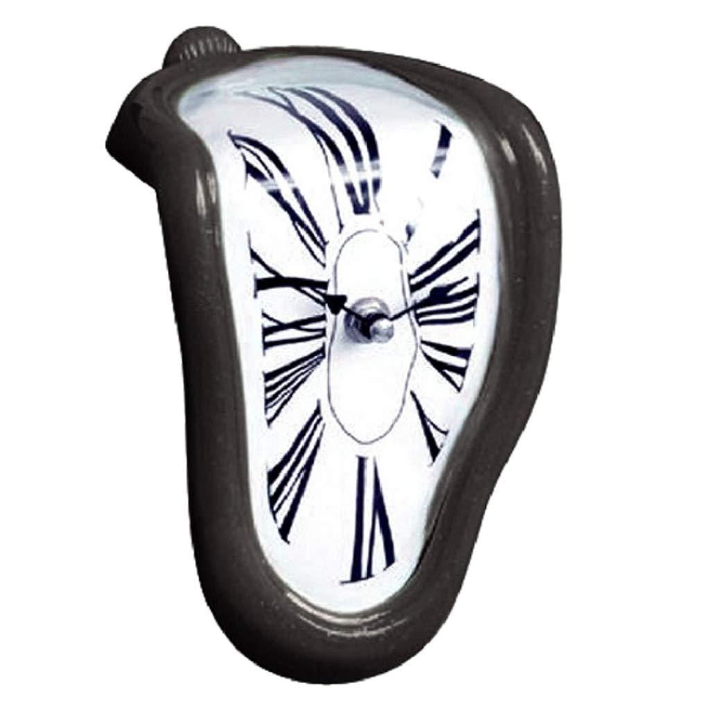 Homyl Reloj Derretido, Melting Clock, Diseño Novedoso - Negro: Amazon.es: Hogar