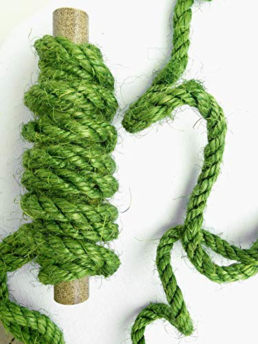 Green Sisal Rope, Dyed Avocado Green Color: 1/4