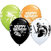 "Qualatex 18669 Star Wars Birthday Assortment Latex Balloons, 11"", Multicolor, Pack of 25"