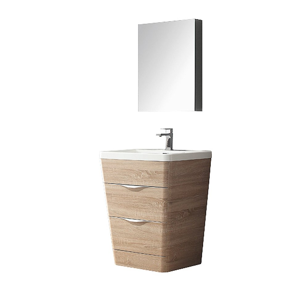 Fresca FVNWK Modern Fresca Milano Bathroom Vanity With Medicine - Bathroom vanity and medicine cabinet