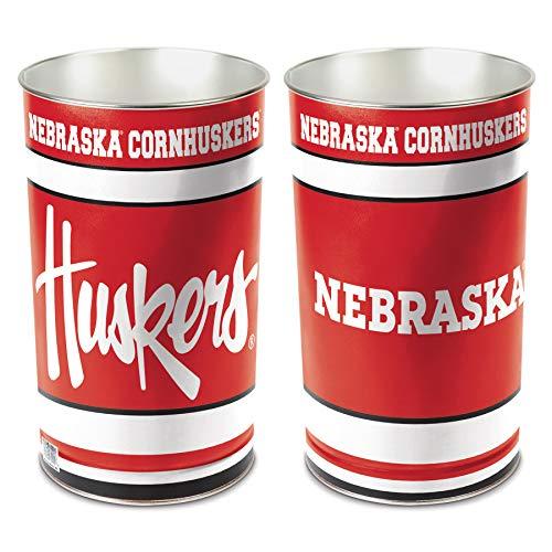 WinCraft NCAA Nebraska Cornhuskers 15 Waste Basket, Team Color, One Size ()