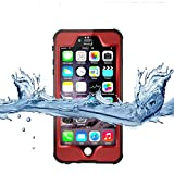 iPhone 6S Waterproof Case,3C-Aone [Newest] Fullybody Underwater Shockproof Snowproof Dirtpoof Protection Cover for Apple iPhone 6S 4.7inch (Red)