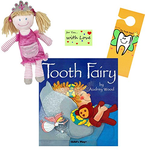 Maison Chic Tooth Fairy Plush Pillow w/ Tooth Fairy Book Set (Tooth Fairy Princess Tessa Audrey Wood) by Tooth Fairy Fun (Image #4)