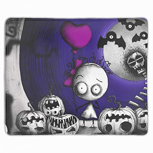 Personalized Rectangle Mouse Pad, Printed Halloween Murasaki Baby 11.8-inch by 9.85-inch ()