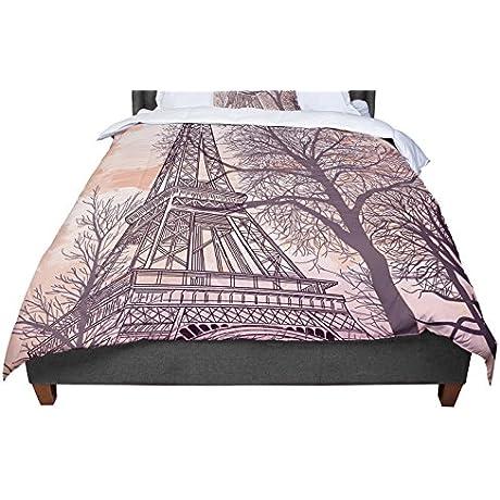 KESS InHouse Sam Posnick Eiffel Tower King Cal King Comforter 104 X 88