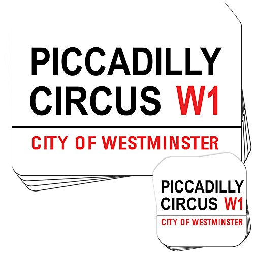 Piccadilly Circus London West End Set of 4 Placemats and Coasters