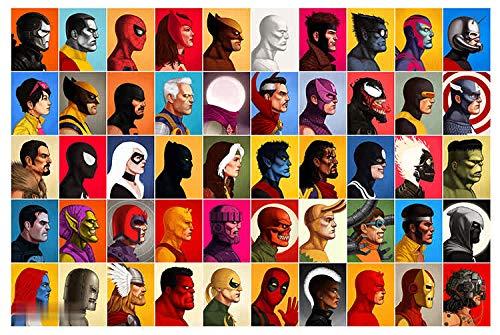 Cómics Cartel Superhéroes Calcomanías Liga De La Justicia ...