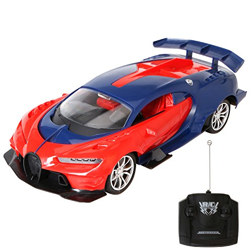 rainbow yuango 1/16 Scale Radio Remote Controlled Car Electric RC Vehicle Sports Car Drifting Race Model Car for Kids Adults Bugatti