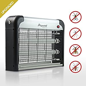 UPGRADED - Aspectek 20W Electronic Bug Zapper, Insect Killer - Mosquito, Fly, Moth, Wasp, Beetle & other pests Killer for Indoor Residential & Commercial