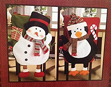 Set Of 2 Christmas Chair Back Covers