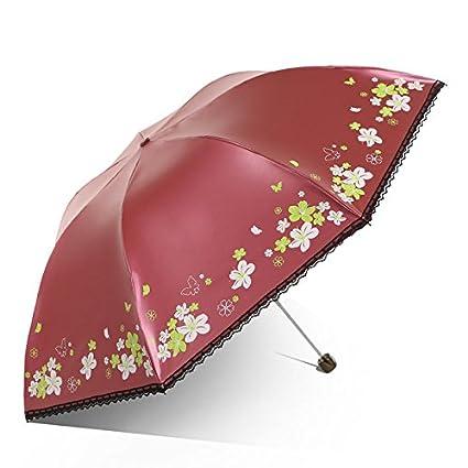 Paraguas plegable automatico Mujer niño Hombre an- Sombrilla Plegable Plástica Anti-UV Paraguas Pequeño