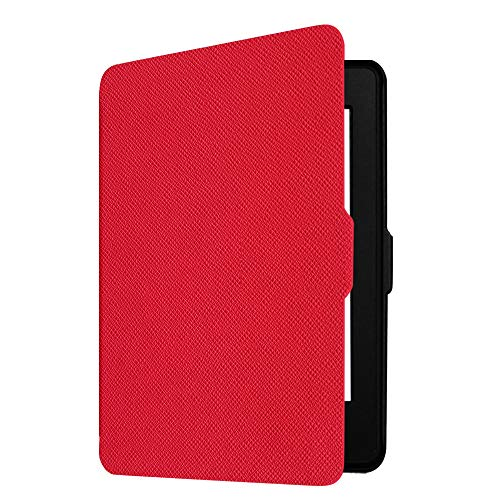 Fintie Slimshell Case for Kindle Paperwhite - Fits All Paperwhite Generations Prior to 2018 (Not Fit All-New Paperwhite 10th Gen), Red