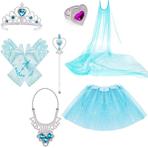 Frozen Elsa Cape - Princess Dress Up Costume Accessories Elsa