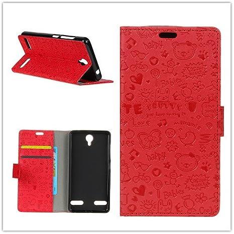 Funda® Capirotazo Billetera ZTE Blade L7 (Rojo): Amazon.es: Electrónica