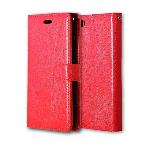 Premium-PU-Leder-Kasten-Schlag-Mappen-Kasten-Silikon-Abdeckung Solide Abdeckung für Lenovo S90 ( Color : Red , Size : Lenovo S90 ) Red