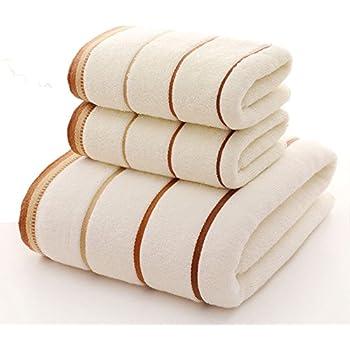 Amazon Com Premium Towel Set 100 Cotton Striped Bath