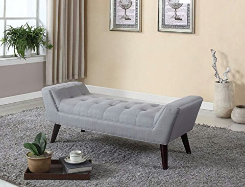 home-life-curved-foot-bench-with-tufted-accents-textured-linen-fabric-and-wooden-legs-grey
