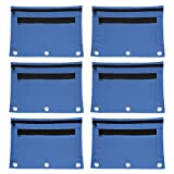 Advantus Zippered Binder Pouch with Clear Pocket, 9.5'' x 5.5'', Blue, Pack of 6 (94038)