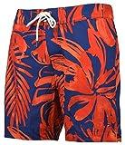 Tommy Hilfiger Men's Floral Board Shorts Swim Trunks - L - Red/Navy