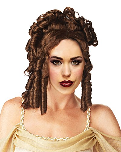 Victorian Lady Wig - Goddess Wig Brown Wig Brunette Ringler Wig Theatre Costumes Accessory