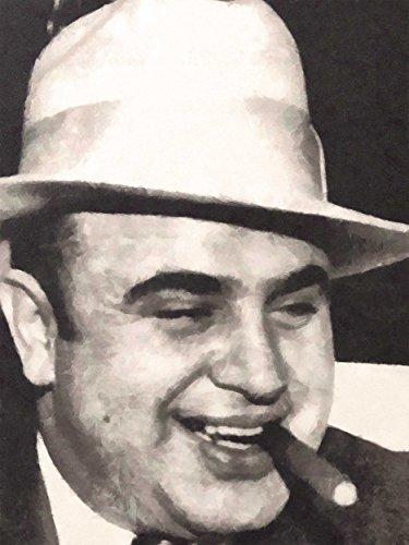 Art Painting Portrait Gangster Al Capone Cigar Crime Poster Print