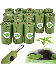 Dog Poop Bags,Biodegradable Poop Bags,Earth-Friendly Poop Bags, Premium Thickness & Leak Proof,Environmental Friendly,Green,Easy-To-Carry Dog Garbage Bag With 1 Dispenser(16 Rolls/240 Bags)