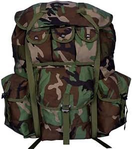 Fox Outdoor Enhanced Military Spec Large Nylon Alice Pack Woodland Camo