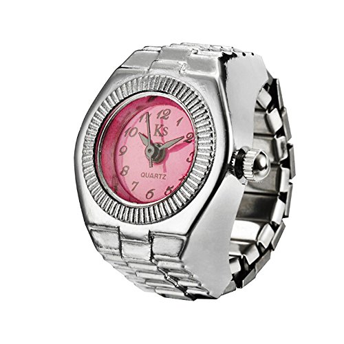 Watch, Womens Watch,Finger Ring Analog Alloy Quartz Watch Retro Exquisite Luxury Classic Casual Business Watches for Ladies Teen Girls (L)