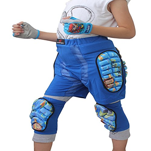 Bambini Ragazzi Ragazze Protezione 3D Hip Eva Paded Pantaloni Corti Protezioni Protezioni Pad Sci Sci Pattinaggio Snowboard Blue M Blu XXS LanLan Strumento per attivit/à allaperto